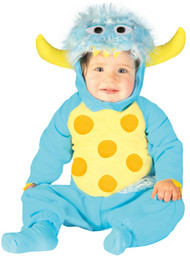Baby Blue Monster Fancy Dress Costume