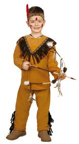 Boys Indian Warrior Fancy Dress Costume