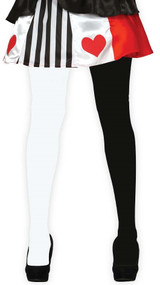 Ladies Black & White Tights