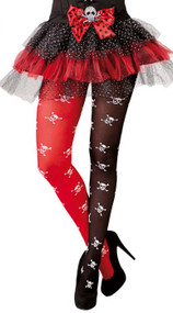 Ladies Black & Red Pirate Tights