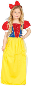 Girls Sequinned Snow Princess Fancy Dress Costume
