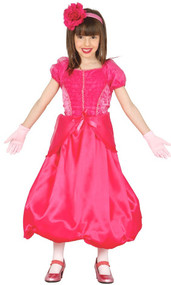 Girls Pink Flower Princess Fancy Dress Costume
