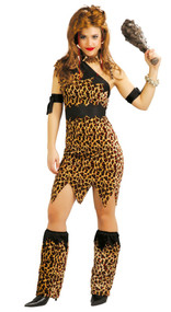 Ladies Prehistoric Cavegirl Fancy Dress Costume