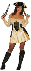 Ladies Pillaging Pirate Fancy Dress Costume