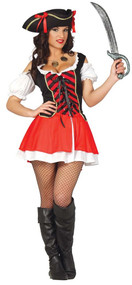 Ladies Pirate Captain Fancy Dress Costume