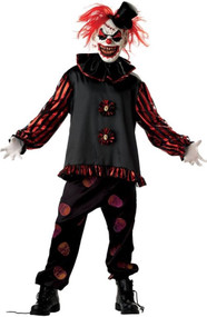 Mens Carver the Killer Clown Fancy Dress Costume
