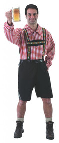 Mens Bavarian Lederhosen Fancy Dress Costume
