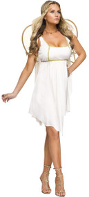 Ladies Golden Angel Fancy Dress Costume