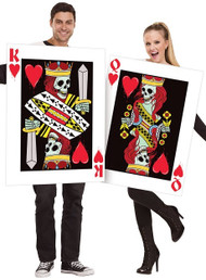 Couples King and Queen of Hearts Fancy Dress Costumes