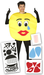 Adult Emoji Fancy Dress Costume