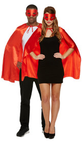 Adult Red Superhero Fancy Dress Costume