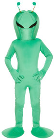 Child's Green Alien Fancy Dress Costume