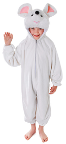 Child's White Mouse Fancy Dress Costume