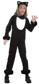Girls Black Kitty Fancy Dress Costume