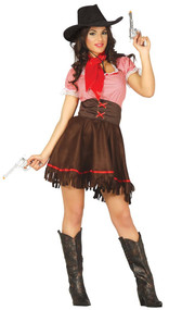 Ladies Cowgirl Cutie Fancy Dress Costume
