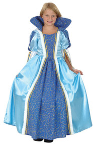 Girls Blue Princess Fancy Dress Costume 2