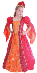 Girls Red Deluxe Princess Fancy Dress Costume