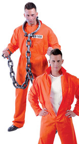 Mens Death Row Prisoner Fancy Dress Costume
