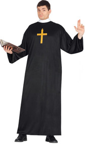 Mens Traditional Vicar Fancy Dress Costume