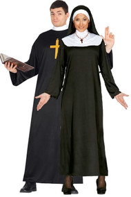 Couples Vicar & Nun Fancy Dress Costume