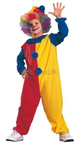 Child's Clown Fancy Dress Costume 2