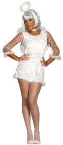 Ladies White Angel Fancy Dress Costume
