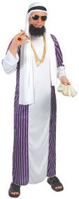 Mens Rich Arab Fancy Dress Costume