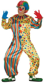 Mens Colourful Clown Fancy Dress Costume