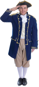Mens Admiral Fancy Dress Costume