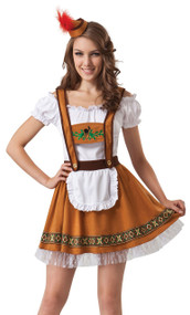 Ladies German Beer Girl Fancy Dress Costume