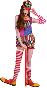 Ladies Clown Fancy Dress Costume