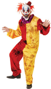 Mens Horror Clown Fancy Dress Costume