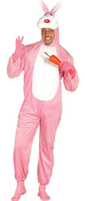 Adults Pink Rabbit Fancy Dress Costume