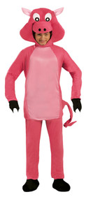 Adult Pink Piggy Fancy Dress Costume