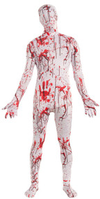 Mens Bloody Splattered Fancy Dress Costume