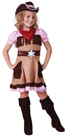 Girls Cowgirl Cutie Fancy Dress Costume