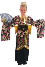 Girls Geisha Fancy Dress Costume