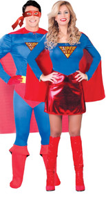 Couples Superhero Fancy Dress Costumes
