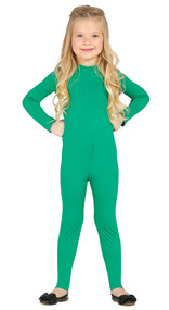Child's Green Bodysuit Fancy Dress Costume