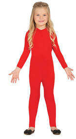 Child's Red Bodysuit Fancy Dress Costume