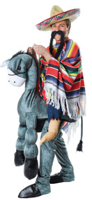 Mens Mexican Step in Donkey Fancy Dress Costume
