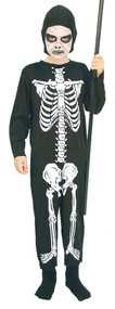 Boys Evil Skeleton Fancy Dress Costume
