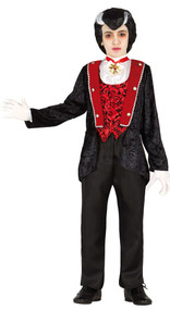 Boys Lord Vampire Fancy Dress Costume