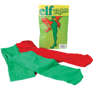 Adult Red/Green Elf Tights