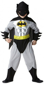 Boys Metallic Batman Fancy Dress Costume