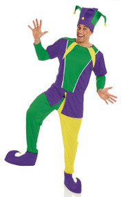 Mens Carnival Jester Fancy Dress Costume