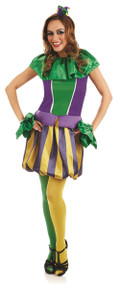 Ladies Carnival Jester Fancy Dress Costume