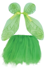 Girls Green Fairy Wings & Tutu Set