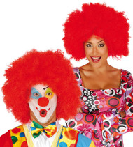 Adult Red Large Afro Fancy Dress Wig