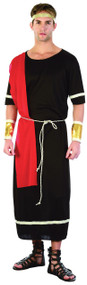 Mens Black Toga Fancy Dress Costume